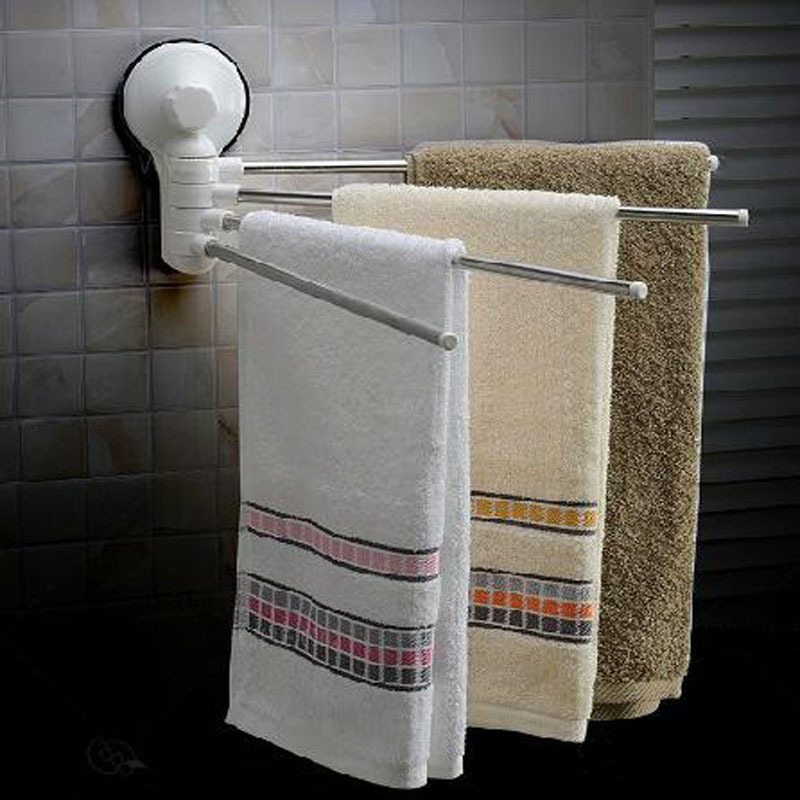 Buy 4 Swivel Bars Folding Movable Bath Towel Hook Wall Mounted Bathroom Towel
