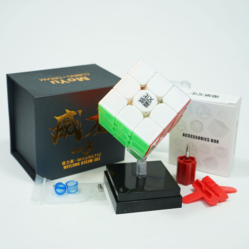 Limited MoYu Weilong GTS3M Blue 3x3x3 Weilong GTS V3 Magnetic Cube Puzzle Professional Weilong GTS 3 M 3x3 GTS3 M Speed Cube