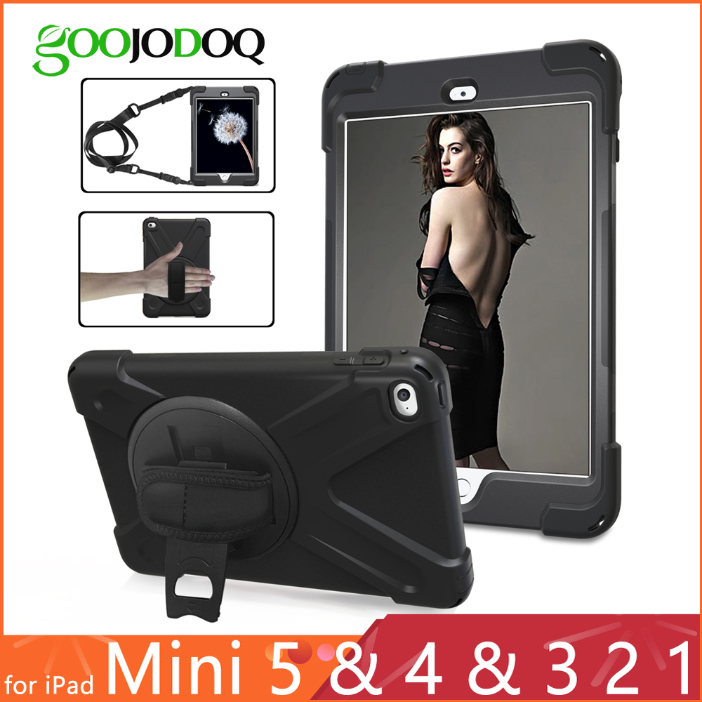 Shockproof Case for iPad Mini 1 2 3 4 Kids / ipad mini 5 2019 Case with Stand Hand Strap Shoulder Silicone Safe Child Cover MINI
