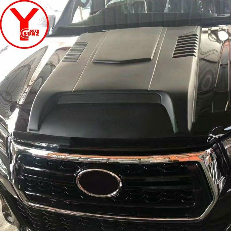 YCSUNZ matte black car bonnet cover hood scoop vent car styling parts accessories For Toyota Hilux revo fortuner 2016 2017 2018