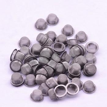 100 сеток трубка для курения металлический шар из нержавеющей стали фильтр для экрана трубки с кристаллами фильтр сетка курительная травка аксессуары для табака