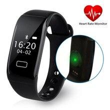 K18S сердечного ритма браслет Bluetooth 4.0 IP65 Водонепроницаемый шагомер спортивные Фитнес калорий SMS напоминание Умные часы