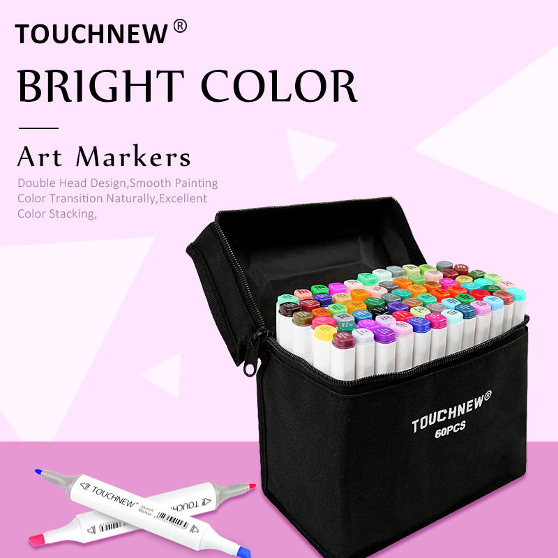 TOUCHNEW 30/40/60/80/108/168 Colors Art Markers Artist Sketch Drawing Manga Markers Alcohol Based Art Supplies MarkersTOUCHNEW 30/40/60/80/108/168 Colors Art Markers Artist Sketch Drawing Manga Markers Alcohol Based Art Supplies Markers