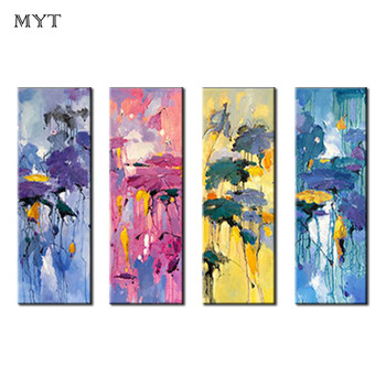 MYT Large Size Hand Painted Life Abstract Oil Painting on Canvas Wall Art Pictures For Living Room Wall Decoration No Frame