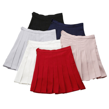 3e718e94b0bc School High Waist Mini Skirts Womens 2019 Korean Style Summer Pleated—Free  Shipping