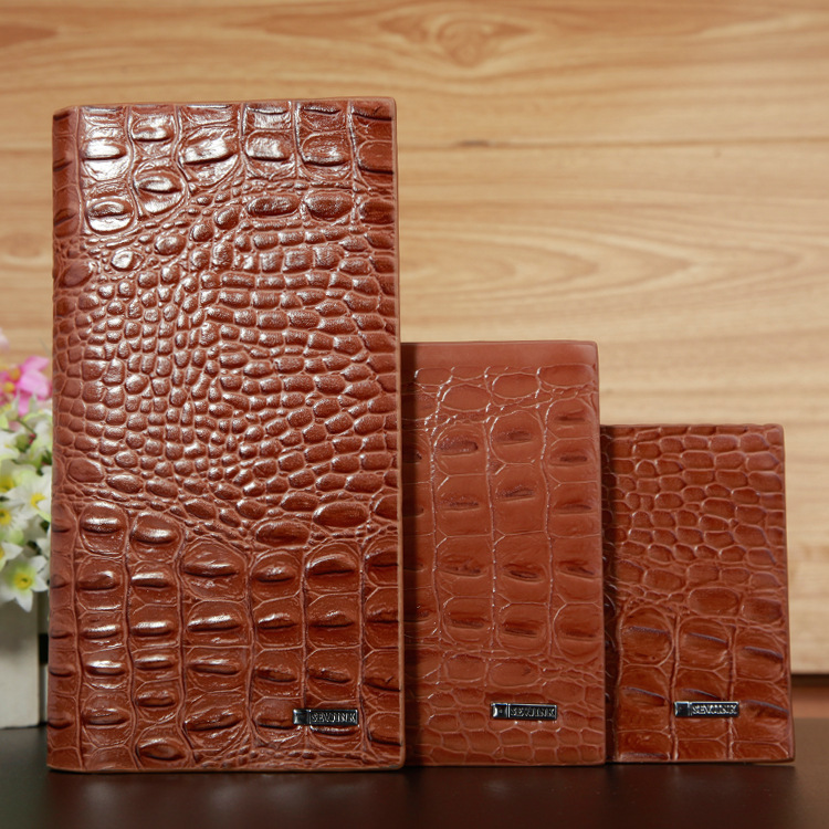2018 Luxury crocodile vintage leather men long slim wallet male small purse money coin dollar price credit card holder cuzdan jinbaolai men credit card holder leather luxury rfid card wallets brand male purse dollar price business wallet bid092 pr15