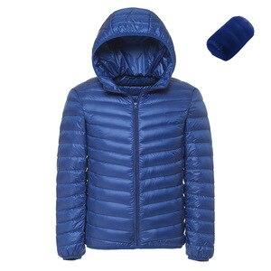 Image 4 - Doudoune légère à capuche pour hommes, couleur unie, Boutique de mode, printemps et automne, décontracté