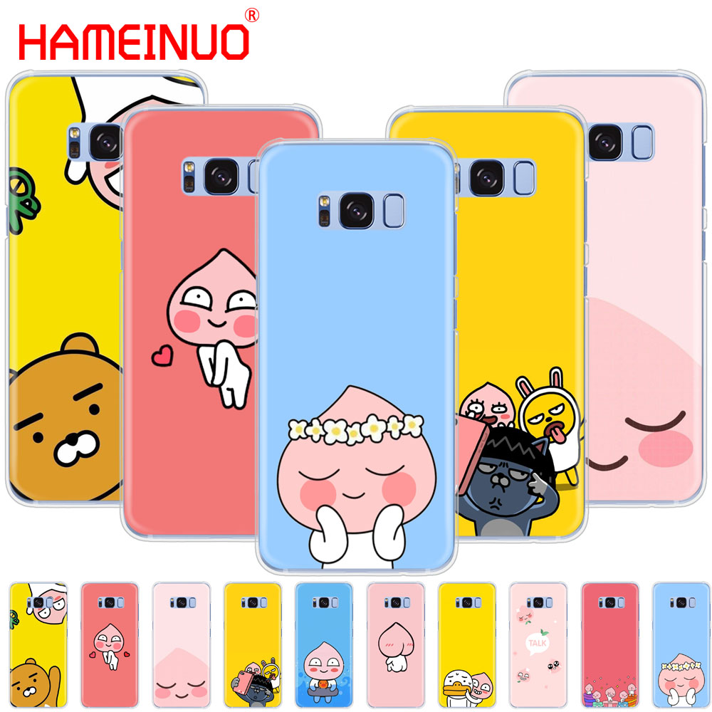 HAMEINUO Korean cartoon funny cocoa friend cell phone case cover for Samsung Galaxy S9 S7 edge PLUS S8 S6 S5 S4 S3 MINI Сотовый телефон