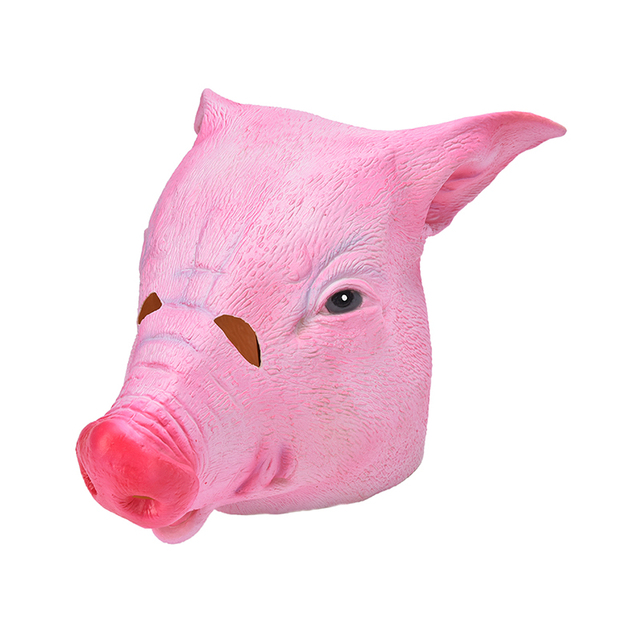 1Pcs Creepy Adult Pig Head Latex Rubber Mask Animal Halloween Costume Prop Toys Adlut Pig Head  sc 1 st  AliExpress.com : pig head costume  - Germanpascual.Com