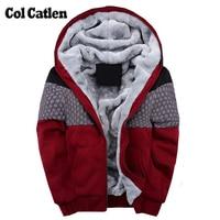 New Brand Hoodies Men Fashion Casual Warm Thicken Men S Sweatshirts Hooded Winter Jacket Man Patchwork
