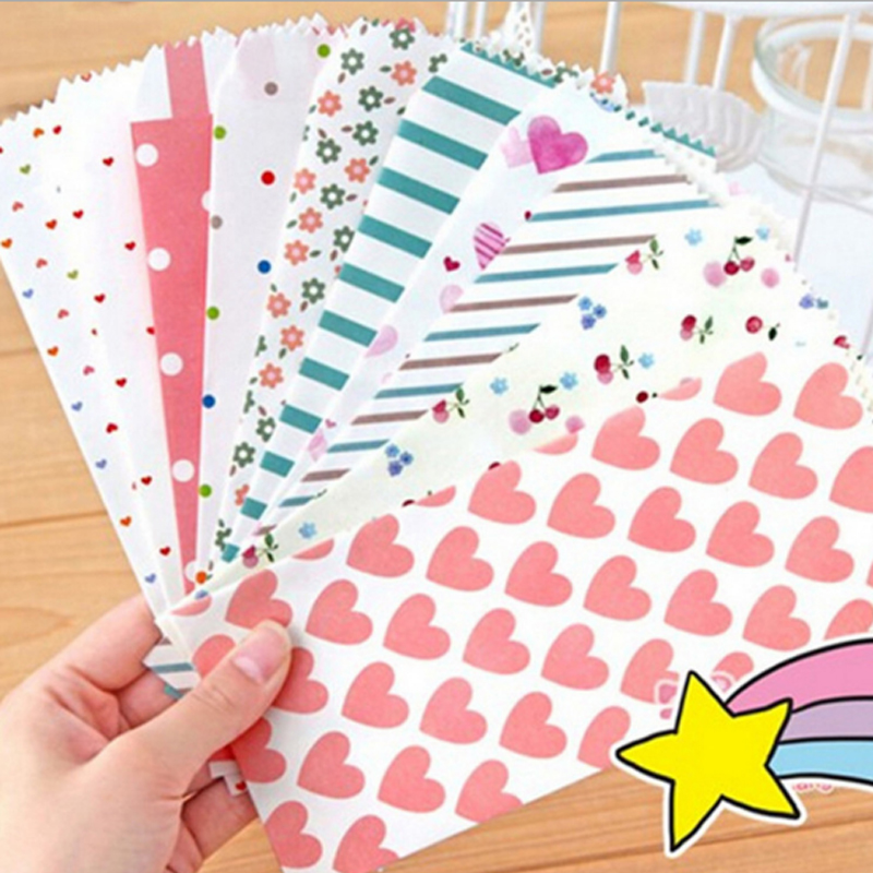 5X Romantic Cartoon Pattern Envelopes Letterhead Office Writing Paper Stationery Kawaii Birthday Christmas Card Envelopes Gift
