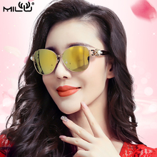 MILU Luxury Brand Logo Designer Ladies Sunglasses Mirror Polarized Glasses Goggles Accessories Avaitor oculos feminino ML71118