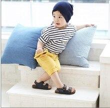 2017 Children Kids Clothing Tees Striped Cotton Short-sleeved Clothing Korean Children Boys T-shirts For Summer