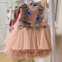 Girls' Party dress Girl's summer Cotton printed dress