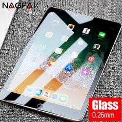 NAGFAK 0.26mm Anti-Burst Tempered Glass For Apple iPad 2 3 4 Air 1 2 Pro Screen Protector For iPad Mini 1 2 3 4 Protective Glass