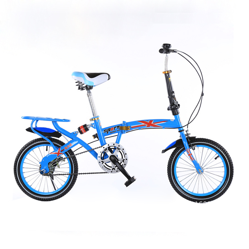 2017 hot sale 16 inches folding bike Children bicycle 7 speed mountain kid s bike double