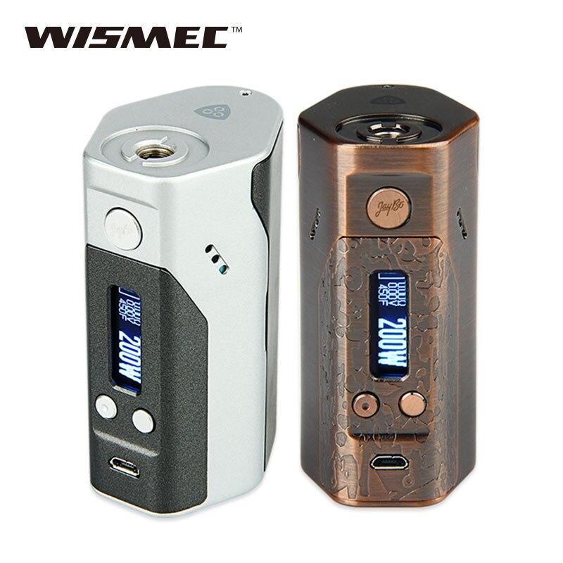 D'origine Wismec Reuleaux DNA200 TC Boîte Mod Max 200 W E cigarettes ADN Mod TC/VW Modes ne 18650 Batterie Boîte Mod vs RX200s/Glisser