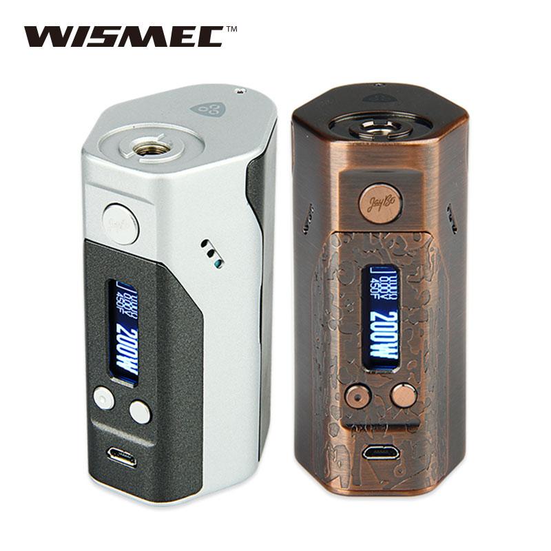 Original Wismec Reuleaux DNA200 TC Box Mod 200W E cigarettes TC200W Battery Temp Control Mod TC/VW Modes Without 18650 Battery