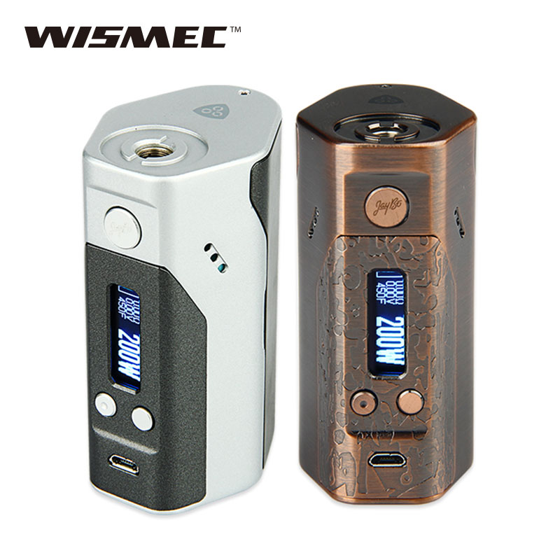 Original Wismec Reuleaux DNA200 TC Box Mod Max 200W E cigarettes DNA Mod TC/VW Modes no 18650 Battery Box Mod vs <font><b>RX200s</b></font> / Drag image