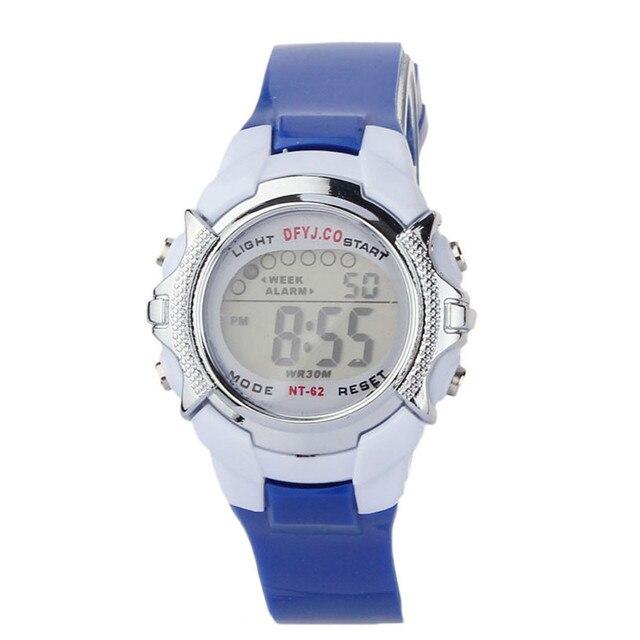Superior 2016 New Fashion Children Digital LED Quartz Alarm Date Sports Wrist Wa
