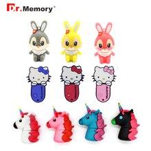 USB Flash Drives 8GB Kitty Cat Unicorn Bunny Pendrives 32GB Pen Drive 4GB 16GB Memory Stick