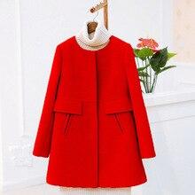 2017 Autumn Winter Korean Wool Coat Plus Size Women Jackets And Coats Warm woolen coat slim thin solid color Overcoat