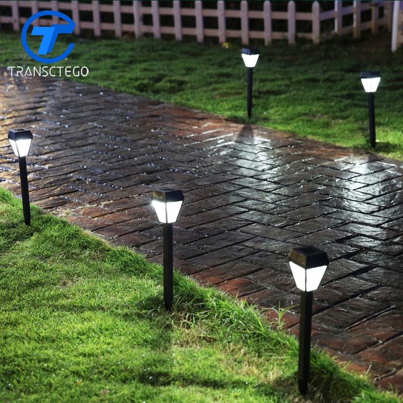 Extrem TRANSCTEGO solar licht outdoor rasen bewegungsmelder lampe LED UP48