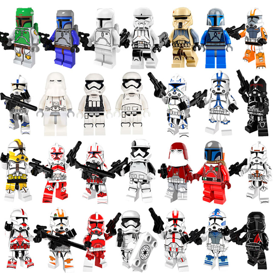 Legoing Star Wars Stormtrooper Clone Troopers Wolfpack Trooper Shock Storm Sand Death Jek-14 Snowtrooper Legoings Starwars Block