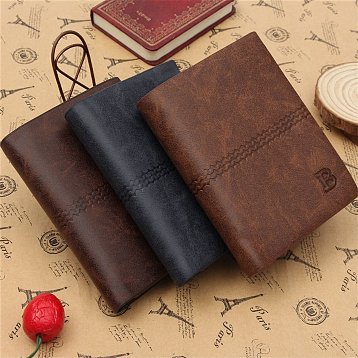 Kicute Pu Leather Men S Wallet Business Credit Card Holder Money