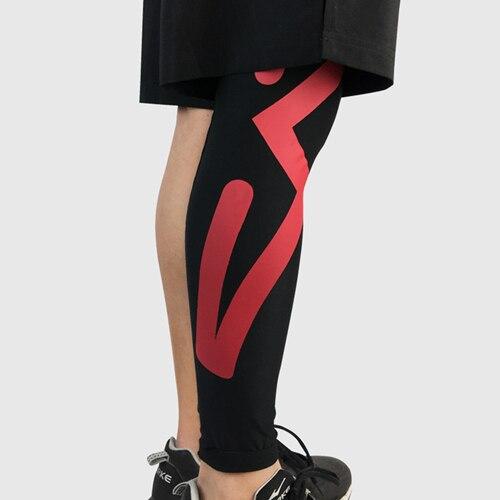 Новинка 1 шт. взрослые футбольные наколенники ножка поддержка рукав баскетбол наколенники колено протектор Поддержка икр Kneecap Спортивная безопасность - Цвет: black red