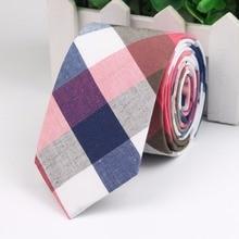 Fashion Tie Classic Men's Plaid Necktie Casual Tartan Suit Bowknots Ties Male Cotton Skinny Slim Ties Colourful Cravat