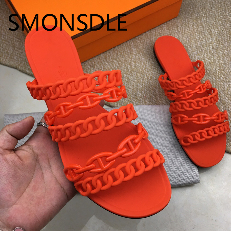 2018 New Spring Summer Shoes Woman Slippers Designer Woman PVC Plastic Cement Casual Flats Outside Slippers Women Beach Shoes 2017 new summer shoes woman slippers cozy leather classic slippers designer woman outside slippers tide woman shoes slippers