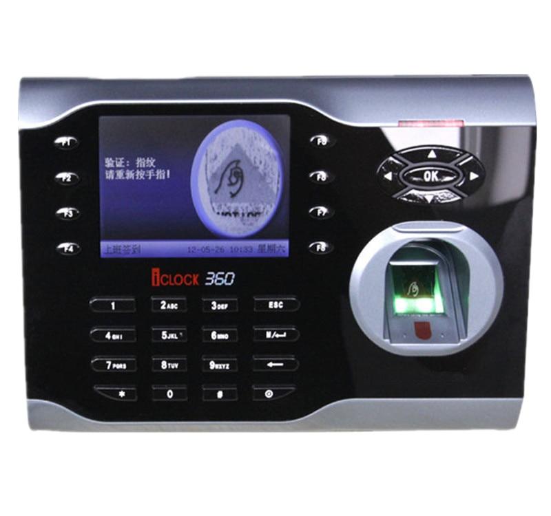 High-Speed ZKteco Fingerprint Time Attendance Terminal Iclock360  Punch Card and Fingerprint Time Clock System стоимость