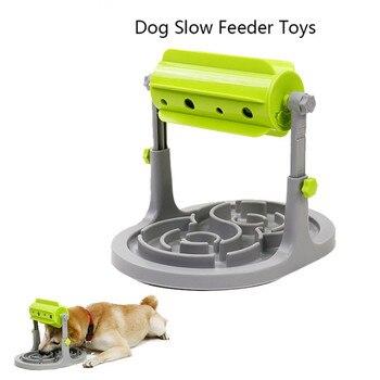 Makanan Diobati Mainan Anjing Makanan Feeder Pendidikan Anjing Puzzle Mainan Interaktif IQ Permainan Pelatihan Mainan Anti Tersedak Lebih Lambat Feeder Mangkuk