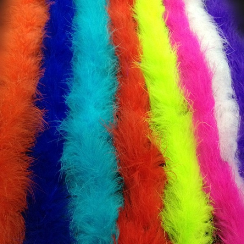 2 шт./потерял 4 м курица пушистая полоса боа из пера индейки для свадебное платье вечерние украшения DIY Костюмы аксессуары оптом