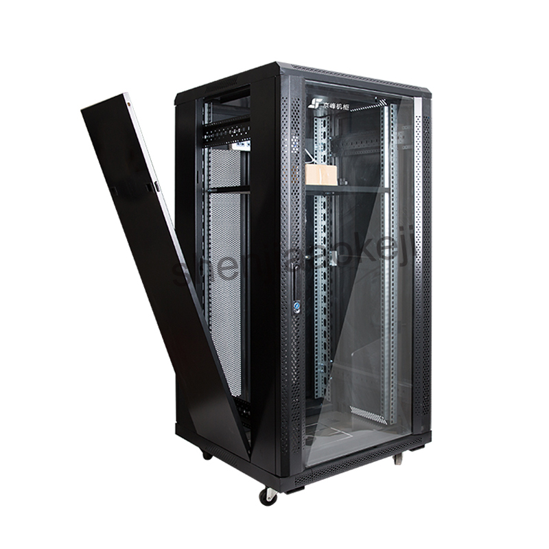 22U Cabinet Web Server Cabinets Network Rack Server Stored Program Controlled Switching Cabinet Monitor  1pc