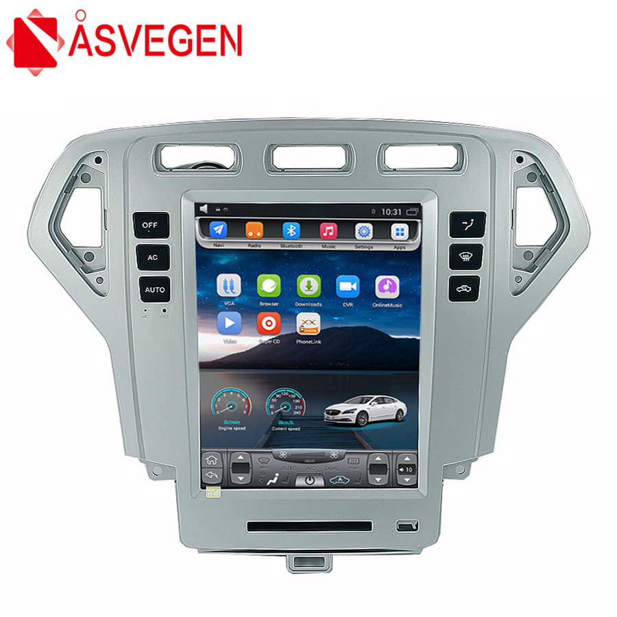 Asvegen For Ford Mondeo 2007-2010 10.4 inch Android 6.0 Quad Core Car Radio GPS Navigation Stereo Headunit DVD Multimedia Player