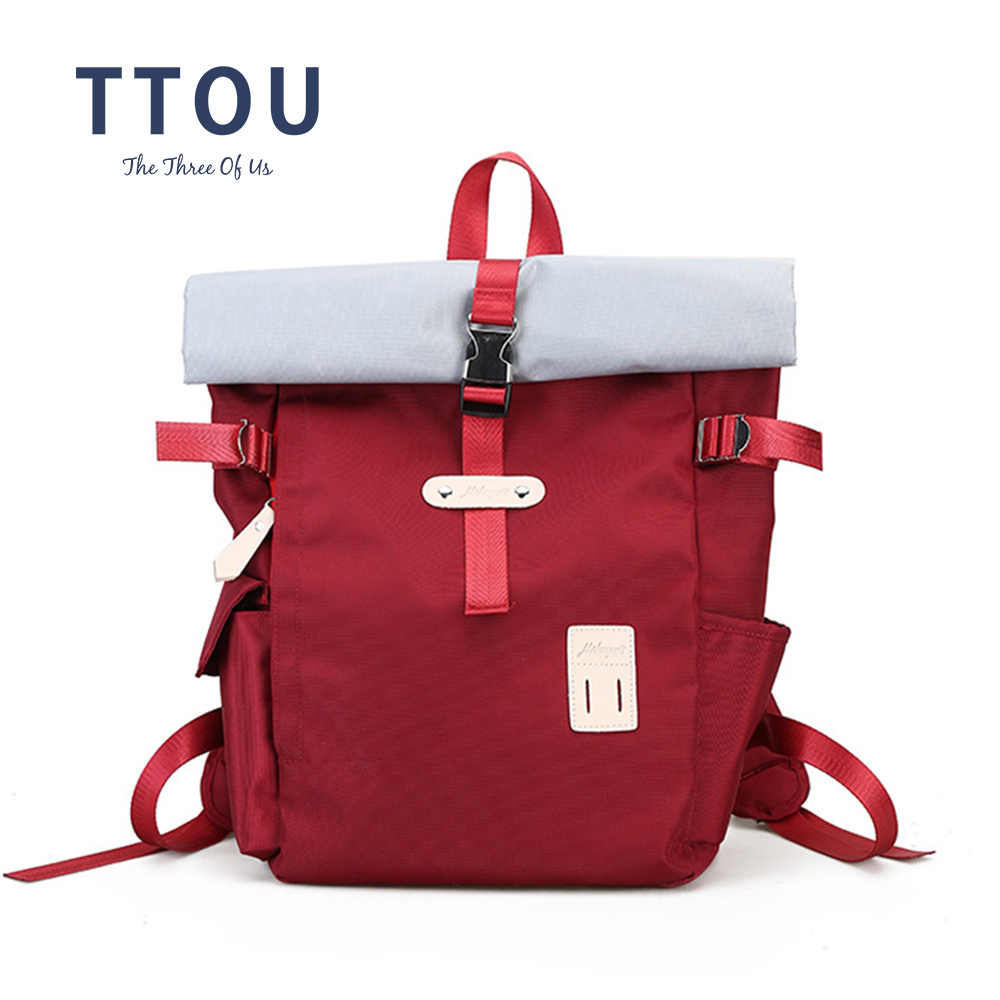 TTOU Women Large Capacity Backpack Students Casual School Backpack Female Leisure Backpack Fashion Travel Bag