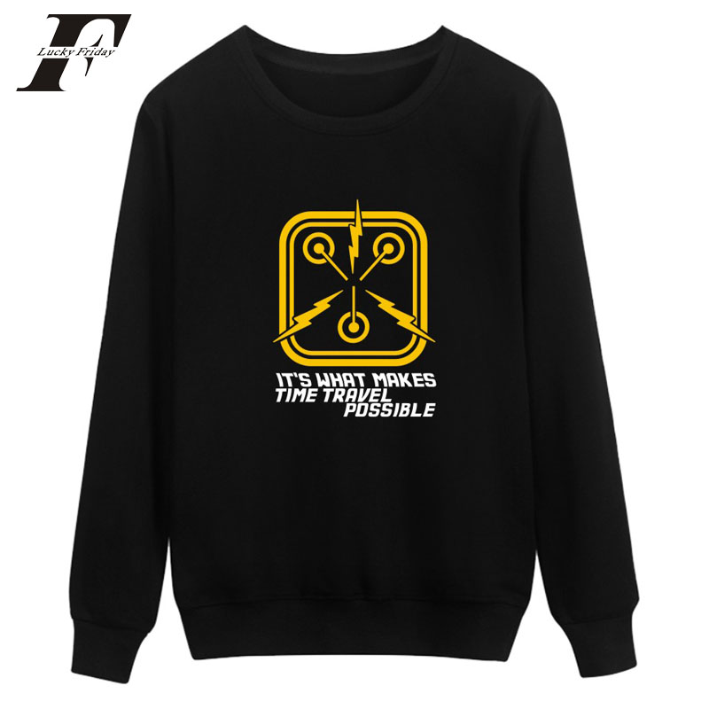 2017 Back to the Future Harajuku Sweatshirt Hoodies Street Wear Winter Warm women Mens Hoodies and Sweatshirts Brand moletom 4XL