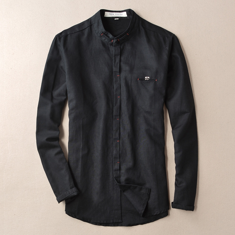 Compare Prices on Linen Black Shirt- Online Shopping/Buy Low Price ...