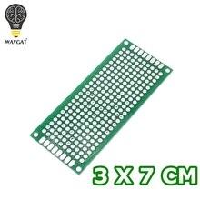 WAVGAT 3x7 см двухсторонний Прототип PCB diy универсальная печатная плата