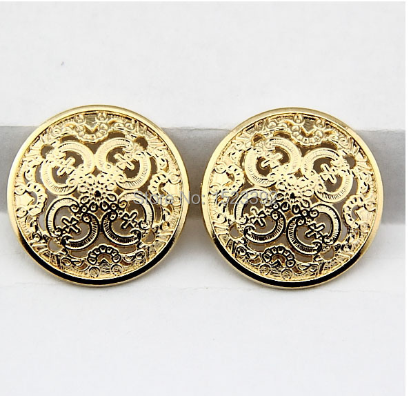 US $11 99 |Alipress Wholesale 50Pcs Gold Metal Coat Buttons 22 5mm Round  Sewing Button Bulk Button DIY Button Scrapbooking Botones 4 003-in Buttons