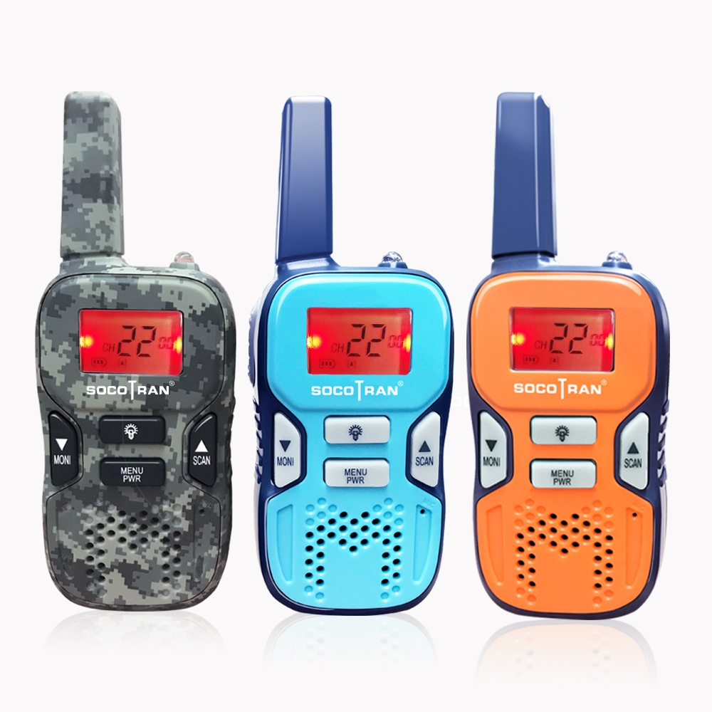 2Pcs Walkie Talkie Kids 22 Channel FRS//GMRS UHF Two-way Radio 2 Miles Interphone
