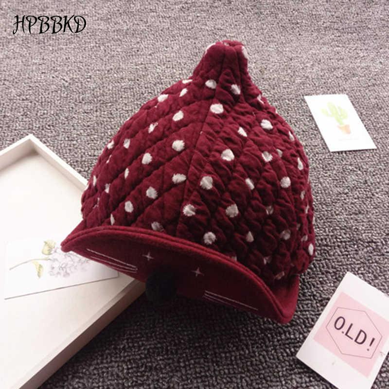HPBBKDแฟชั่นฤดูหนาวเด็กสาวหมวกทารกแรกเกิดทารกเด็กวัยหัดเดินหมวกเด็กสาวฤดูใบไม้ร่วงU Nisexฝ้ายอบอุ่นหมวกเบสบอลเด็กหมวกGH386