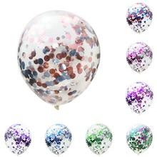 5 шт./лот, прозрачные шары, красные, серебристые, зеленые, синие, конфетти, шары с днем рождения, детские, для вечеринки, Мультяшные шляпы, украшения
