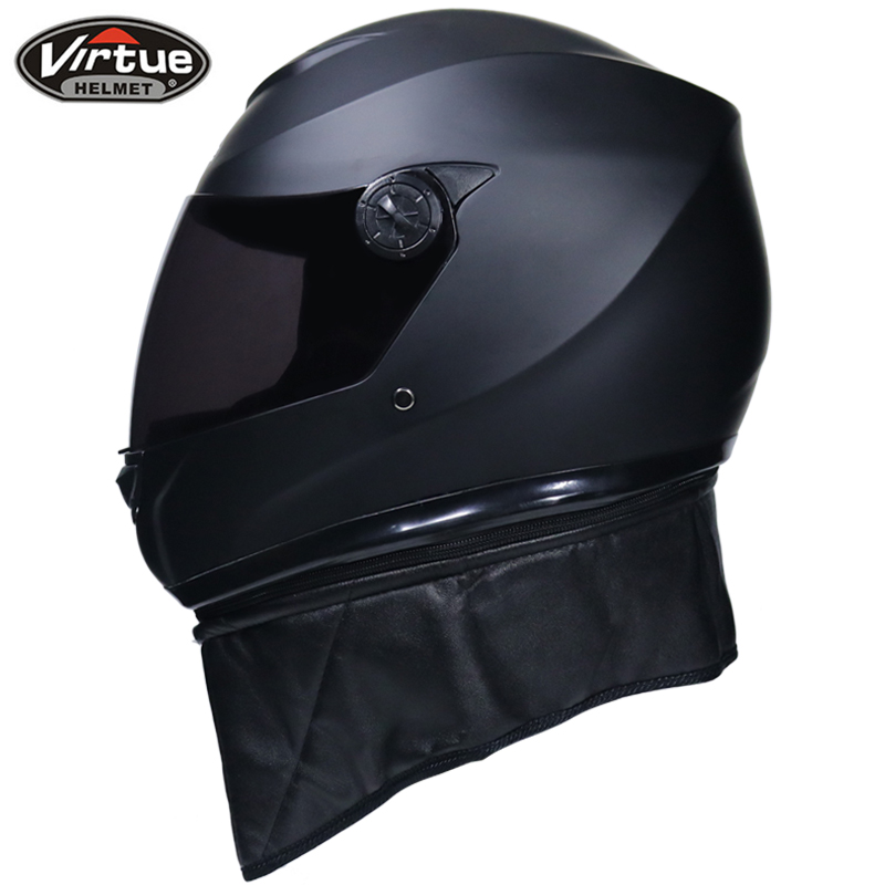 1ac221a1f3b Genuina nueva Virtud de cara completa cascos de invierno cálido con visor  doble Casco de la motocicleta Casco moto capacete en Cascos de Coches y  motos en ...