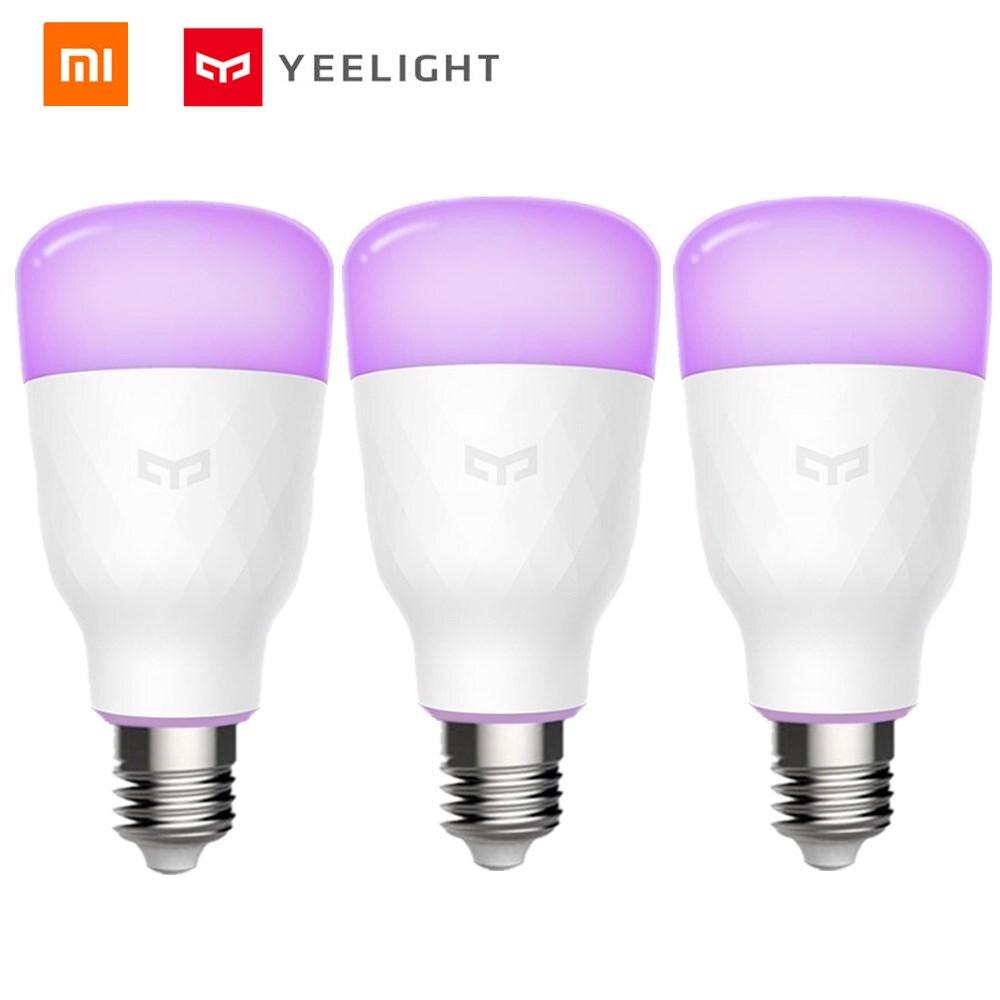Xiaomi norma mijia Yeelight YLDP06YL E26/E27 10W RGBW Intelligente HA CONDOTTO LA Lampadina di Lavoro Con Amazon Alexa AC100-240V (xiaomi l'ecosistema Del Prodotto)