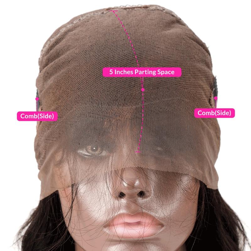 RucyCat brazylijski Remy ludzkiego włosa długi pełna koronkowa peruka na przód 360 peruki typu lace front dla kobiet czarny wstępnie oskubane z dzieckiem włosy