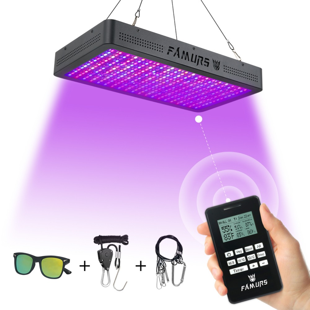 Famurs Led Grow Light 1000W/1200W/1500W/2000W/3000W Full Spectrum Remote Timer Veg/Bloom Control Lamp For Plants Grow Tent Box