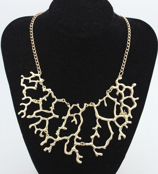 Nueva joyería de la vendimia oro plata Metal Coral Peandant ...